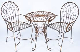 white wrought iron furniture. Chairs » Inspiring Small White Outdoor Dining Room Decoration Using Folding Round Wrought Iron Table Including Furniture