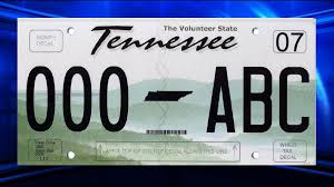 personalized tennessee license plate