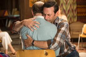 the 7 best moments from the mad men series finale ny daily news don hugs it out after recognizing his own story in another man s