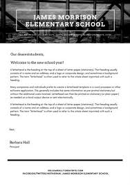 Black And White Header Welcome Letter To Students School Letter