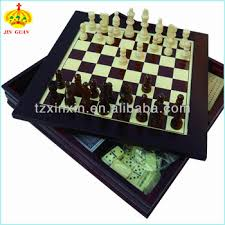 Wooden Board Game Sets Family Wooden Combination Chess Board Game Box 100 With Chess 42
