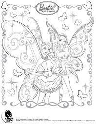 Modest Barbie Fairy Coloring Pages Printable To Snazzy Barbie A