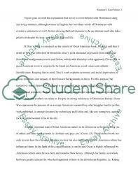 short response paper to junot diazs novel essay short response paper to junot diazs novel essay example