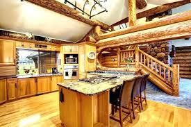 small cabin kitchens chic log kitchen cabinets or design c