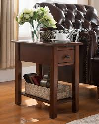 One Source Living Sutton Side Table With Charging Jofran Accent