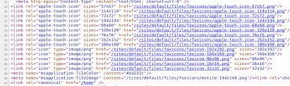 html metas being output