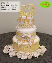 3 Tiers Wedding Cake Pesan Toko Dan Vendor Kue Hova Cake Jakarta