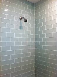 this contemporary shower features glass