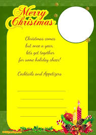 invitation for a party christmas invitation template and wording ideas christmas
