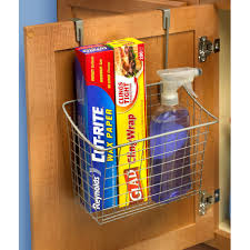 Over The Cabinet Basket Spectrum Diversified Large Over The Cabinet Door Organizer
