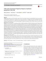 Shroom Tolerance Chart Pdf A Life Cycle Assessment Of Agaricus Bisporus Mushroom