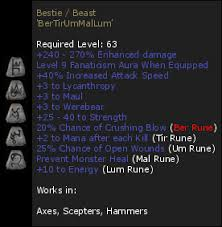 beast runeword reign of shadow item datenbank runewords beast