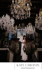 enchanted chandelier barn wedding