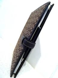 coach leather portfolio case