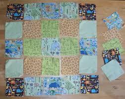 Dinosaur Fabric Lot Dinosaur Quilt Fabric Dinosaur Blanket & Zoo Animal Fabric Squares 5