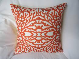 Interior Outdoor Decorative Pillows Tangerine Accent Pillows