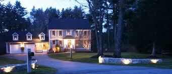 landscape lighting design. custom landscape lighting design in north andover ma salem nh