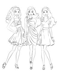 Small Picture Coloring Pages Kids Barbie Coloring Pages Barbie Coloring Games