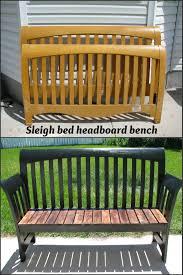 Headboard To Bench My So Called Diy Blog Sleigh Bed Headboard Bench Diy Furniture