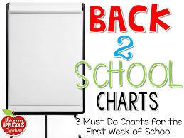 First Week Of School Charts Freebie The Applicious Teacher