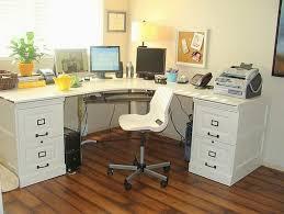 beautiful white l shaped desk