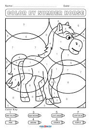 Color by numbers for kids. Free Color By Number Worksheets Cool2bkids