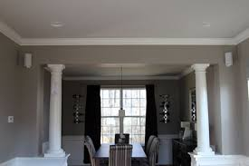 formal dining rooms with columns. columns in between our dining and formal living rooms. i rooms with