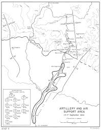 Artillery and air support area 13 17 september 1944