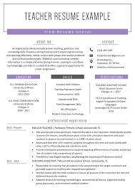 Tips for writing an effective resume teacher resume template & example Teacher Resume Samples Writing Guide Resume Genius