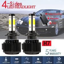 DIC <b>4 Sides LED</b> COB Light Bulb <b>H7 120W</b> 32000lm Headlight ...
