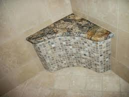 tile shower seat granite seat top and onyx mosaic arched seat in tile shower tile shower