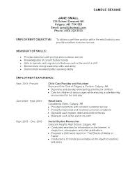 Food Service Manager Resume From Sample Of Objectives For Resume