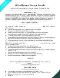 Office Administration Resume Examples Business Office Manager Resume Airexpresscarrier Com