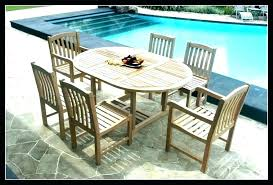 faux wood patio furniture outdoor dining table teak set