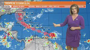 Tropical Storm Elsa strengthening, path ...