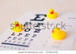 Baby Vision Chart Toys Duck On Blurred Eyesight Test Stock Photo Edit Now