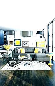 blue gray yellow living room and decor grey accessories ye