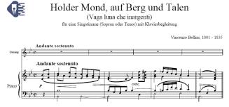 vaga luna che inargenti sheet music 5 endechas montes alfonso sheet music