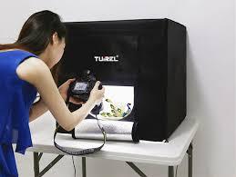 tuirel mini kit led photo studio box light desktop softbox