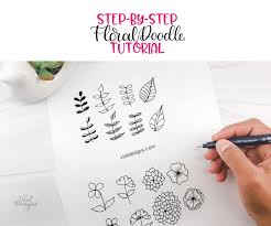 Emails regarding video ideas are always appreciated and taken into consideration but will not receive a response. 16 Simple Floral Doodles Step By Step Tutorial Vial Designs