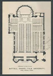 Idaho Shakespeare Seating Chart Details About 1904 Yale U Battell Chapel Floor Plan Seating Chart Flyer