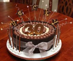 Chocolate 30th Birthday Cakes For Men Cakes Birthday Cakes For