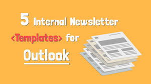 Newspaper Template For Microsoft Works 5 Internal Newsletter Templates For Outlook That Employees