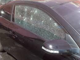 car broke window