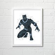 black panther wall art marvel