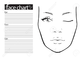 Makeup Charts Free Face Chart Makeup Artist Blank Template Vector Illustration