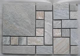 natural slate flooring tile mosaic pattern paving stone design