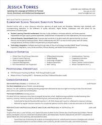 Substitute Teacher Resume Example Optional Cover Letter By Ronan