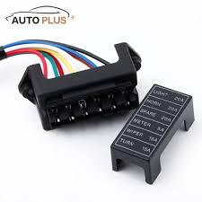 compare prices on dc fuse box online shopping buy low price dc 6 way car fuse box circuit car trailer auto blade fuse box block holder dc 12v