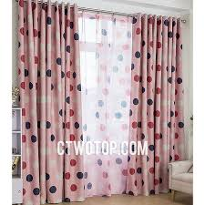 Custom Best Discount Cheap Blackout Pink And Black White Red Polka Dot  Curtains